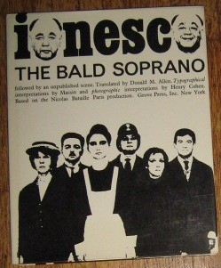 The cover of Massins rendition of Ionescos The Bald Soprano