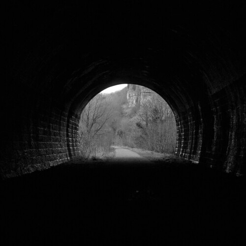 At the end of the tunnel