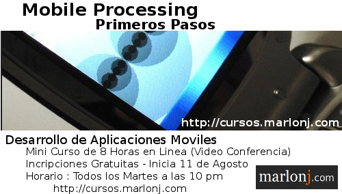 Mini Curso : Mobile Processing Primeros Pasos