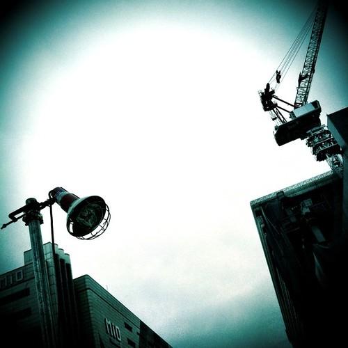 対照的な…。 #crane #light