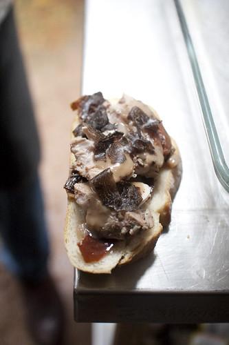 truffle pork sandwich