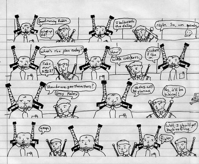 business warriors sketch comic 1