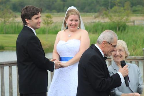 Ryn and Alex's Wedding - Ceremony - Alex and Ryn Listen to Alex's Parents 1