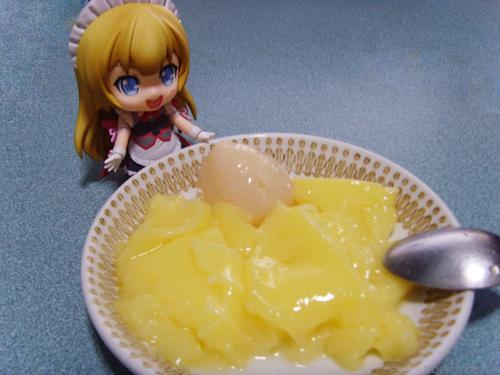 Imoko served me pudding!