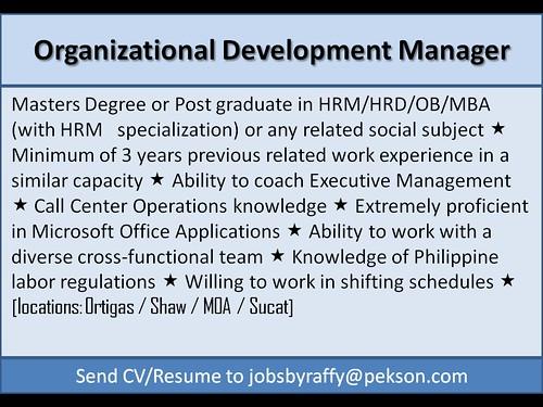 Organizational Development Manager