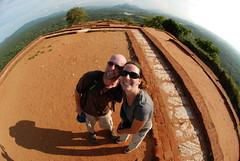 100 -  Carrie and I atop a hornet-free Sigiriya
