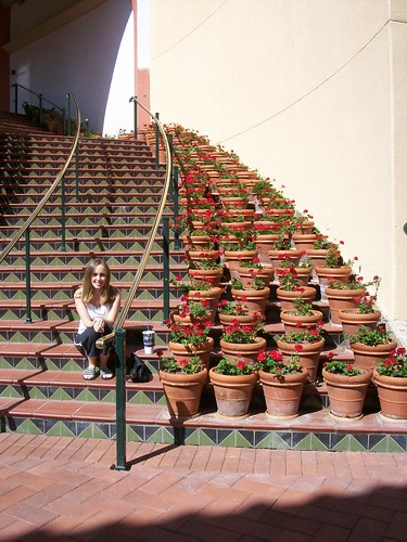 erin on the stairs