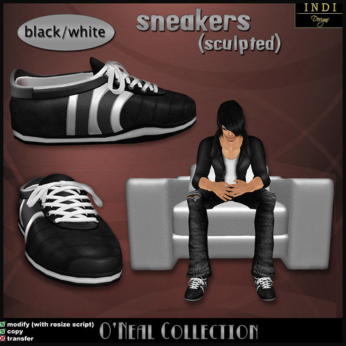 O'Neal sneakers black/white