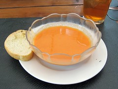 wild thyme gourmet - chilled roasted pepper soup