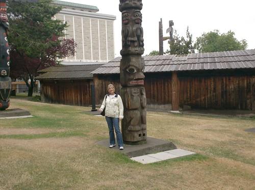 Mom w/Totem Pole