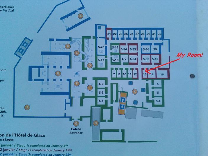 Ice Hotel Map