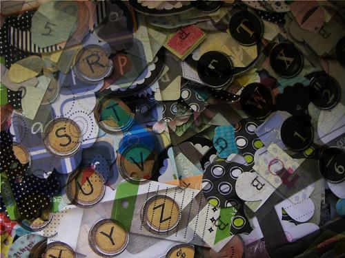alphabet scraps #2 (c) 2009, Lynne Medsker