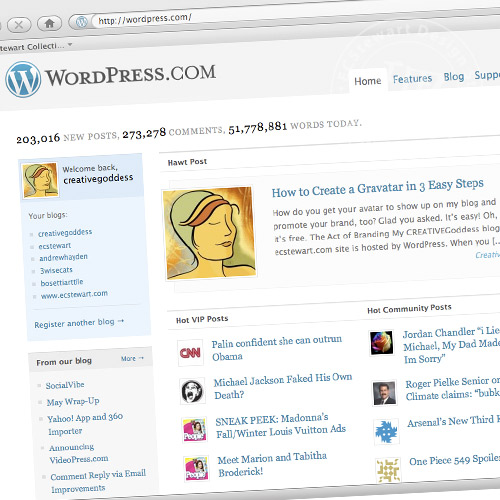 Wordpress.com Hawt Site Feature