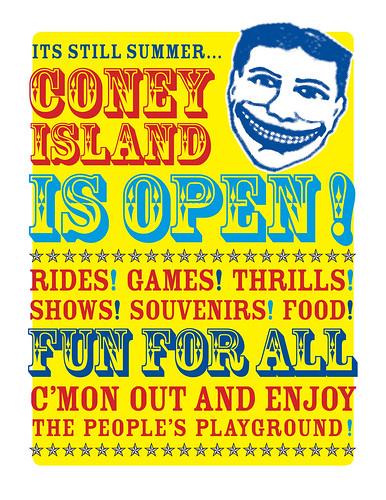 Its still summer...Coney Island is open! Fun for All. Image © brooklynnfoto via flickr