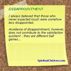 DISAPPOINTMENT (Spiritual Sticky)