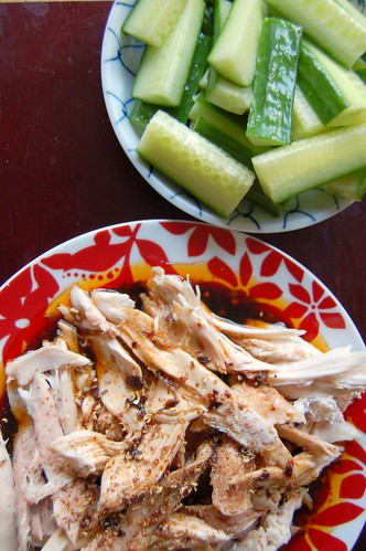 Week One : Leftovers - Hot and numbing chicken and cucumber