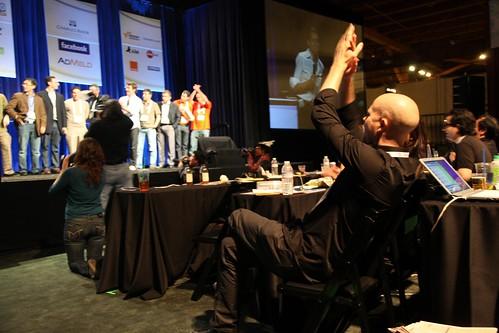 Tylor cheers at TechCrunch50