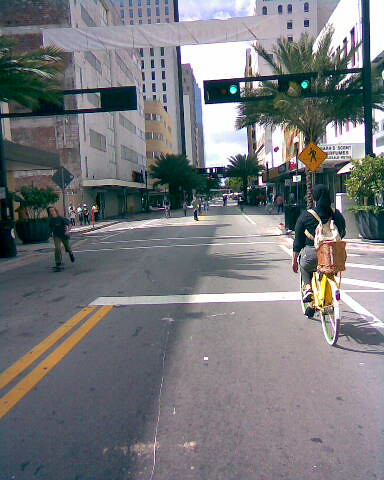 Riding Down Flager St.
