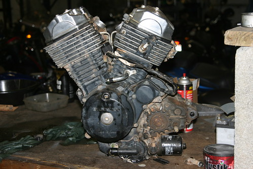 Old Transalp  Engine