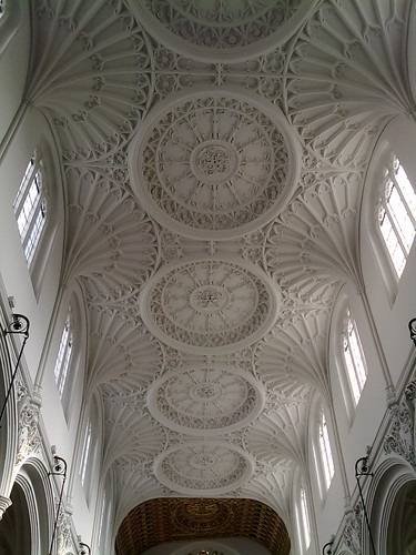 The roof, looking east, at St Mary Aldermary