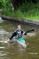 Kayaking on Llangollen Canal