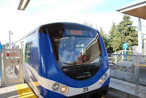Richmond bound train arriving