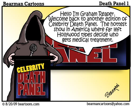 8 17 09 Bearman Cartoon DeathPanel1 copy