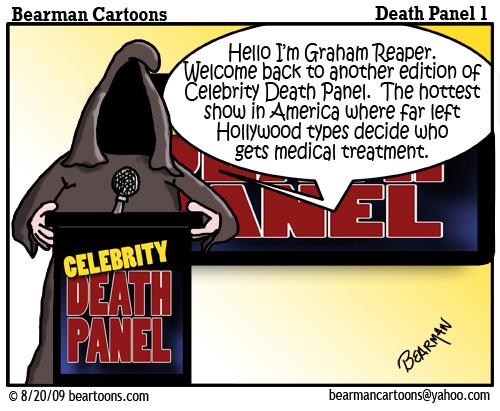8 17 09 Bearman Cartoon DeathPanel1 copy