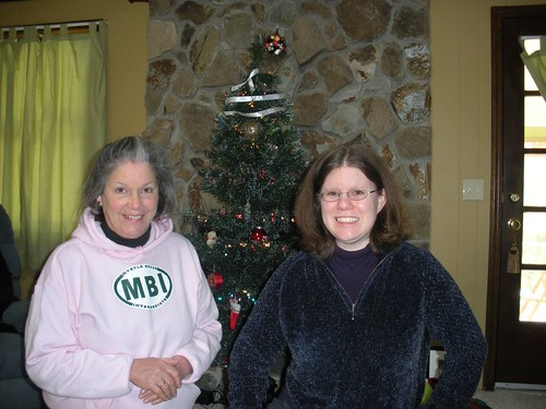 Mom_and_me_in_front_of_my_christmas_tree_2008 by you.
