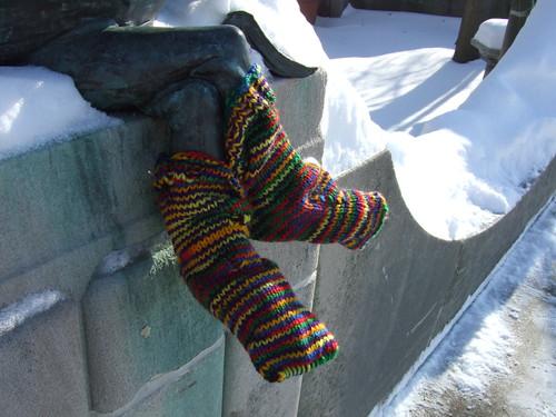 Socks on Mr Dumpty