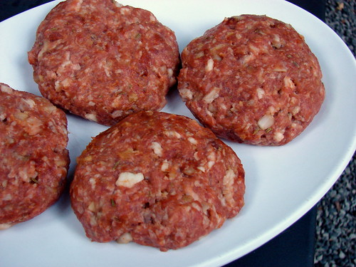 smoky pork burgers