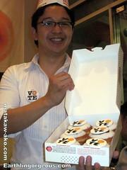RJ Ledesma with KK Vote Donuts