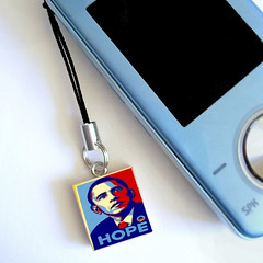 Obama Cell Phone Charm