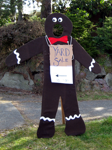 Gingerbread Yard Sale Sign