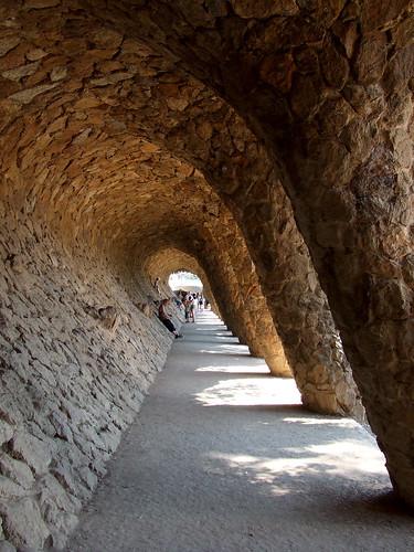 Viaducto en el Parque Güell