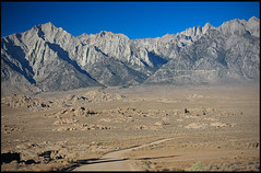 Mount Irvine (left) and Mount Whitney (right)