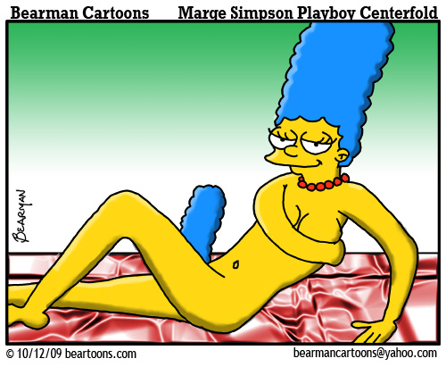 10 12 09 Bearman Cartoon Marge Simpson Playboy