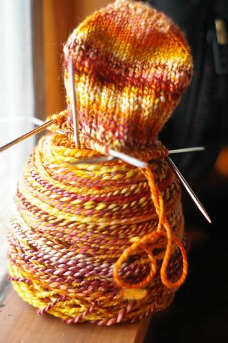 cheery yellow sock