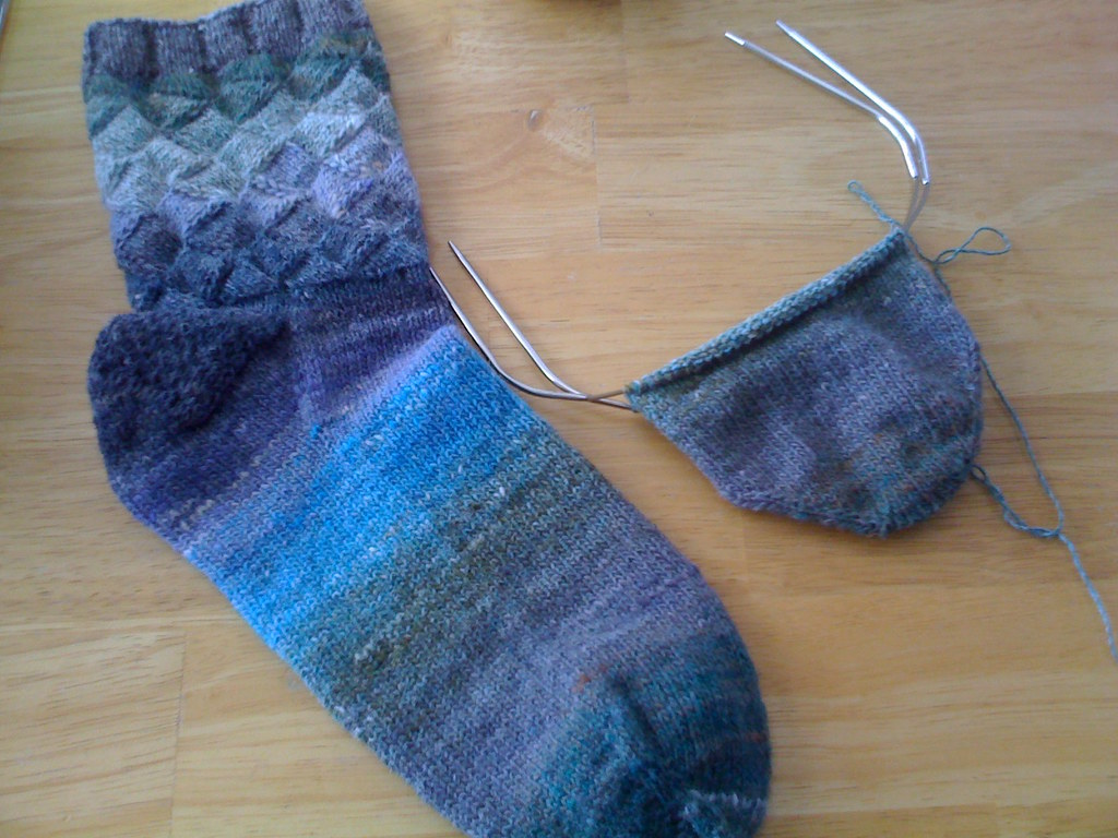 Entrelac Socks 07