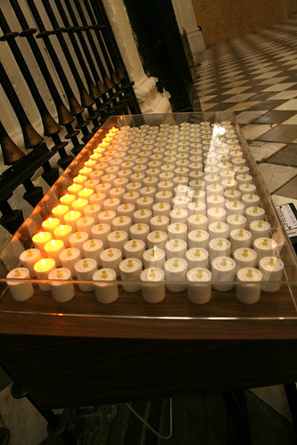 Electric Candles in the Catedral de Granada