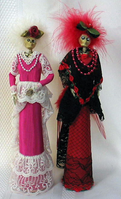 La Catrina Skeleton Dolls Using Recycled Table Legs