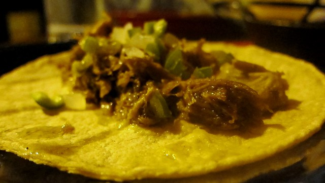 barbacoa de chivo tacos at escorpion