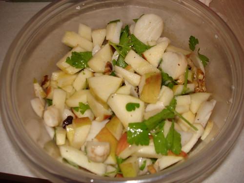 Young Turnip and Apple Salad