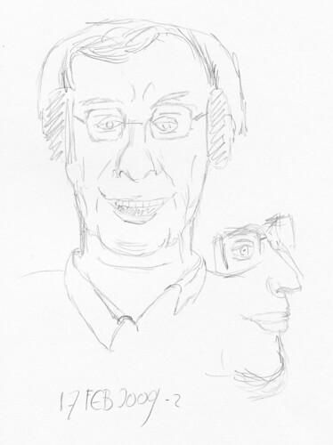 Drawing Leo Laporte - TWiT 2009-02-17-b