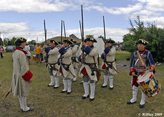 Dismissing the Troops - Plains of Abraham Re-Enactment, Founders Day 2009, Ogdensburg, New York
