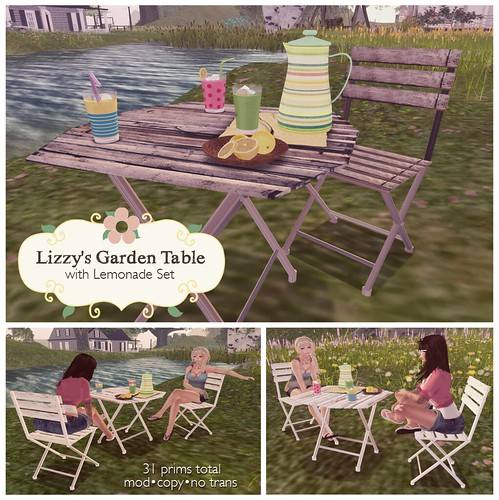 Lizzy's Garden Table for Super Bargain Saturday