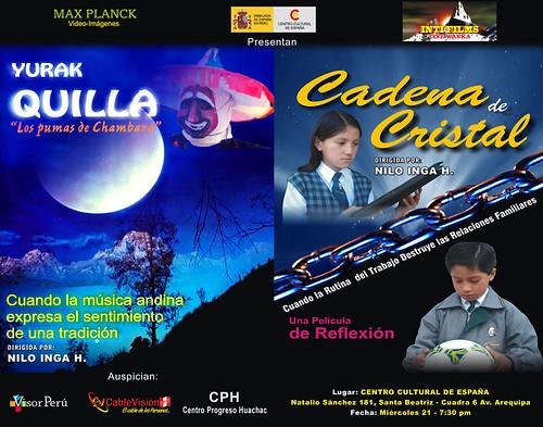 """""""Yurak Quilla"""" y """"Cadena de cristal"""" en el ccelima"""