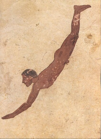 the Tomb of the Diver at Paestum (ca. 500-453 BCE)