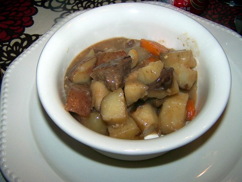 Finished bowl of stew