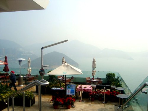 view from cafe